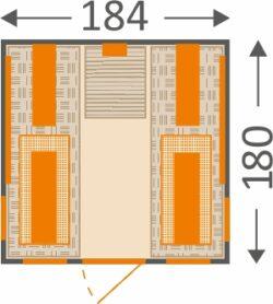 Abmessungen Infrarotkabine 184RX